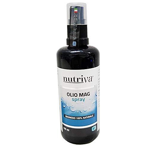 Cabassi & Giuriati Nutriva Olio Mag Spray, Prodotto Cosmetico Spray A Base Di Magnesio, Adatto Per I Vegani (spray 20/100 Ml), color Standard, 100 ml