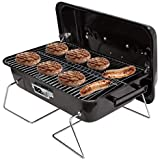 Duke Grills Omaha Go Anywhere Portable Charcoal Grill with Lid - Mini Table Top Grill for Camping, Boat, Tailgate, BBQ - Sturdy Steel Design - Foldable Legs - 6 Burgers, 4 Dogs