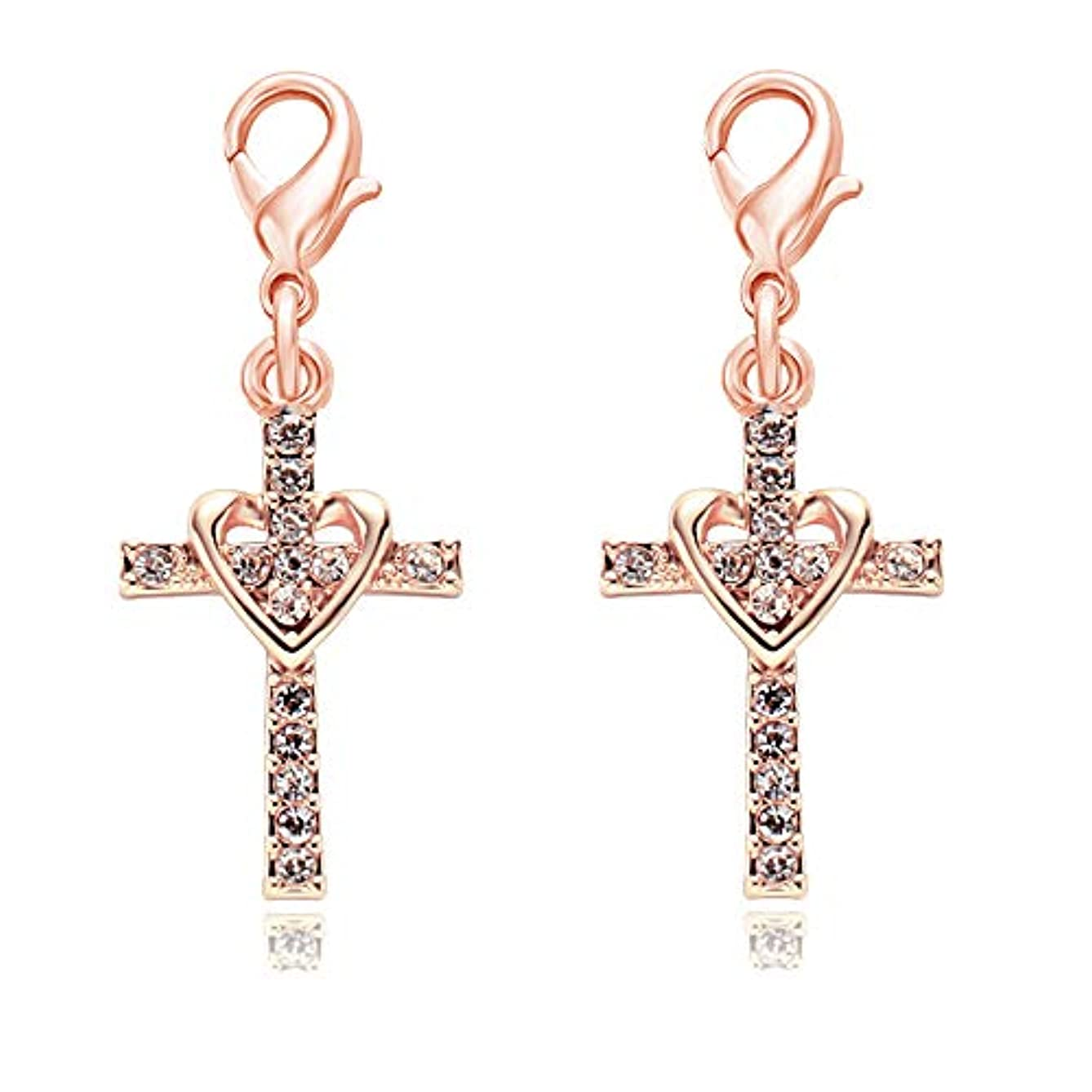 SenFai Heart Cross Crystal Personality Charm Pendant Great