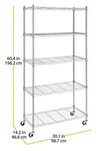 Whitmor 6056-3528 Cart, Chrome
