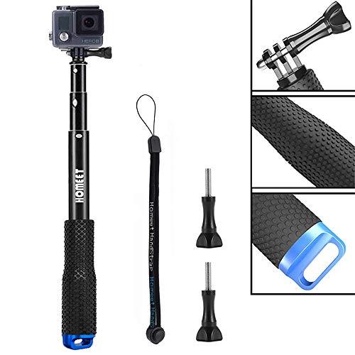 Stick für GoPro, Homeet 49CM ActionCam Selfie Stick Erweiterbar Self Portrait Wasserdicht Einbeinstativ für SJCAM, Akaso, Garmin Virb, YI 4K, Victure, Qumox, Crosstour, Apeman, für Surfen, Tauchen