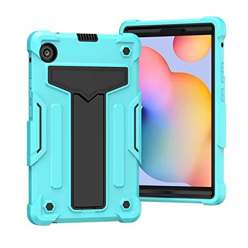 TianTa Funda para Galaxy Tab S6 Lite 10.4' 2020 (SM-P610/ P615), Híbrido Tres Capas Carcasa a Prueba de Golpes Caso con Soporte para Galaxy Tab S6 Lite 10.4 Pulgadas 2020 SM-P610/ P615 - Aqua/Negro