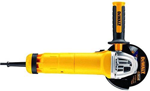 DEWALT - Meuleuse DWE4237-QS - Diamètre 125 mm, 1400W, Système Anti-Redémarrage, Carter de Protection sans Outil, Poignée Latérale Multi-Positions - Sans Disque
