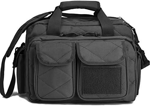 Tactical Gun Range Bag Deluxe Pistol Shooting Range Duffle Bags Black product image