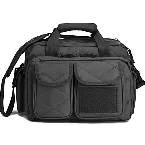 Tactical Gun Range Bag, Deluxe Pistol Shooting Range Duffle Bags Black