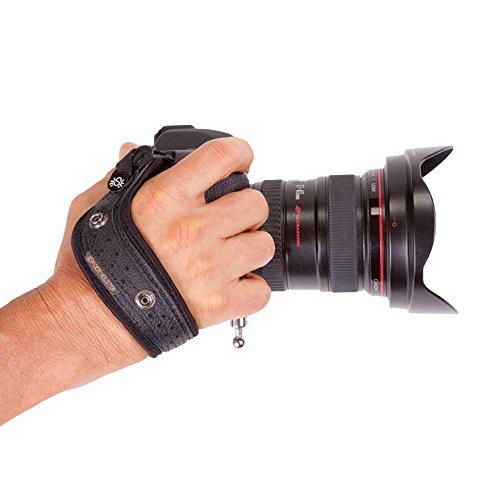 SpiderPro Hand Strap Handschlaufe schwarz kompatibel mit SpiderPro Holster, Slinggurten und Stativplatten
