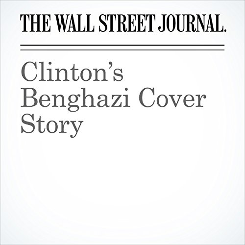 Clinton's Benghazi Cover Story audiobook cover art