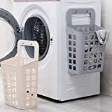 TOCINGO Wall Mounted Bathroom Hanging Laundry Basket Toiletry Organization Washing Bin Home Plastic Laundry Hamper Bag for Bathroom Bedroom Dirty Clothes (37 x 15 x 13 cm) (1 pcs)