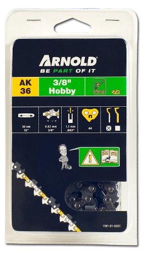 Arnold Sägekette 3/8 Zoll Hobby, 1.1 mm, 44 Treibglieder, 30 cm Schwert 1191-X1-0001