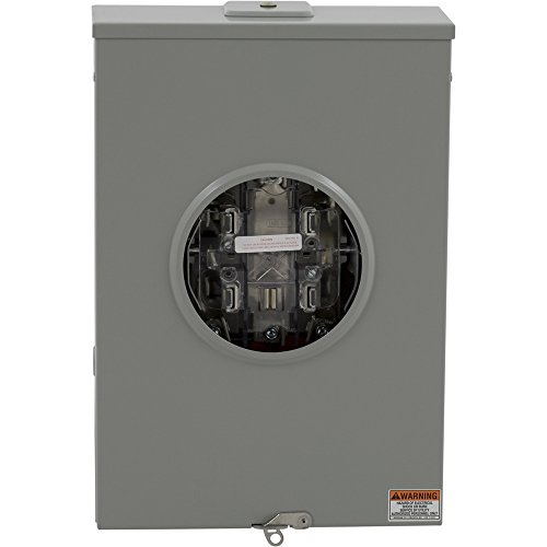 Square D by Schneider Electric 1008801 200A Overhead/Underground Meter Socket With Lever Bypass