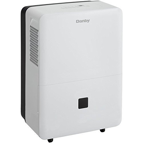Danby Premiere 50 Pint Energy Star Direct Drain Dehumidifier DDR050BDWDB (Renewed)