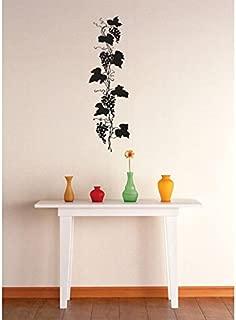 Grapes Vine Fruit Kitchen Image Vinyl Wall Decal Sticker Color : Black Size : 8x32
