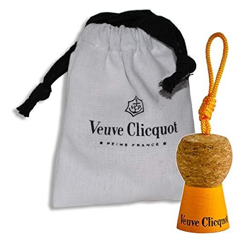Veuve Clicquot VCP champagne kurk-sleutelhanger in geschenkzakje