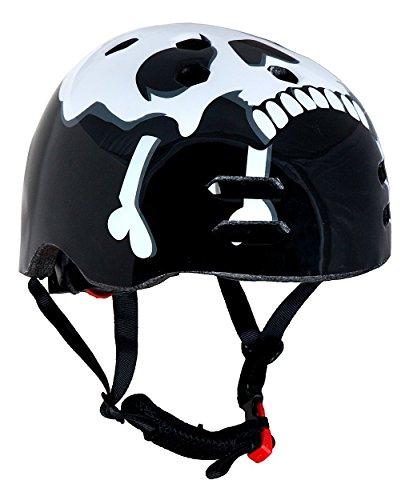 Sport DirectTM BMX / Skate Fahrrad-Helm Motiv Totenkopf 55-59cm