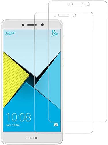 HongMan [3 Pack] Protector de Pantalla para Huawei Honor 6X Cristal Templado, 9H Dureza, Sin Burbujas, Alta Definicion, Resistente a Arañazos Vidrio Templado Screen Protector