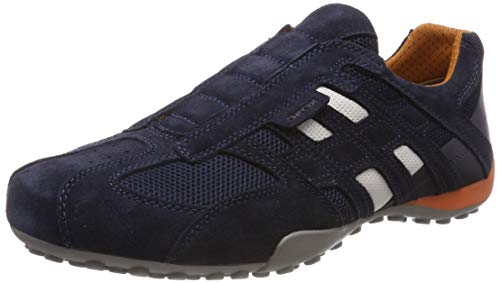 Geox Mens Uomo Snake L Sneaker, Navy, 44 EU