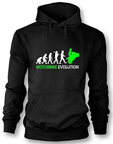 Angry Shirts Motorbike Evolution - Herren Hoodie in Größe XL