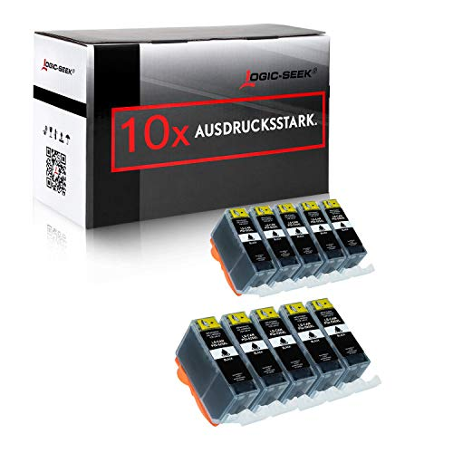 10 Tintenpatronen kompatibel für Canon PGI-525 Pixma IP 4850 4950 IX 6550 MG 5150 5240 5250 5340 5350 6150 6250 8150 8240 8250 MX 715 885 895
