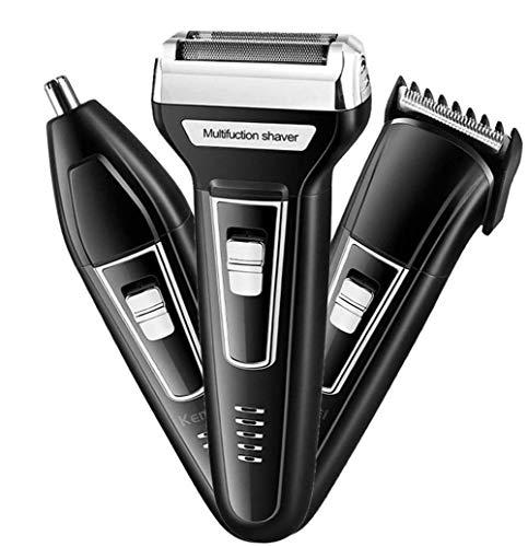 Snoerloze elektrische scheerapparaten Razor voor mannen, oplaadbare Nose Hair Trimmer voor Mannen Wet & Dry scheerapparaten mannen, 3 in 1 Rotary Electric Razor
