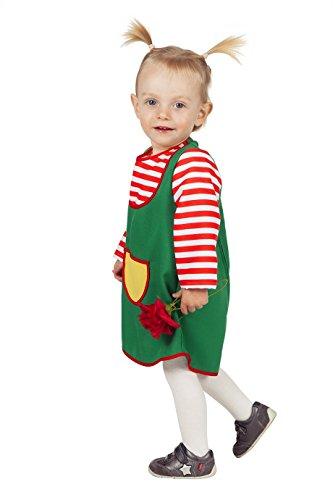 Jannes - Kinder-Kostüm Bunte Schürze, grün gestreift, Kleinkinder 86