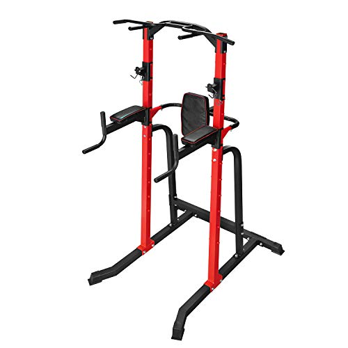ZENOVA Power Tower, Pull up Stand Home Strength Training Dip Stands Pull Up Gym Equipment Home Workout