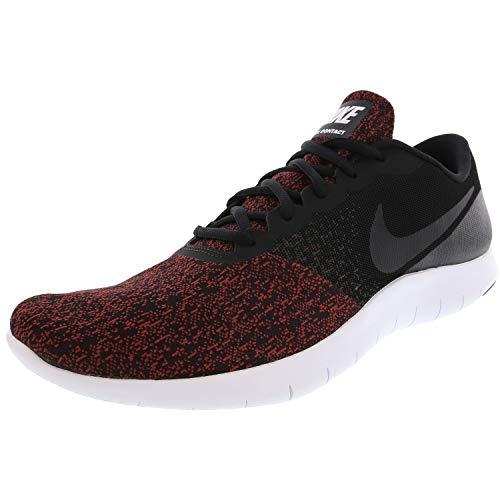 Nike Men's Flex Contact Running Shoes (11.5 M US, Black/Black-Dark Team Red-White)