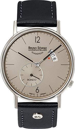 Bruno Söhnle Herren Analog Quarz Uhr mit Echtes Leder Armband 17-13053-861