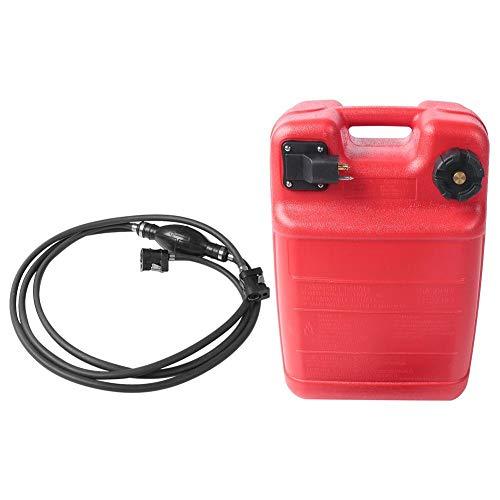 VGEBY1 Tanque de Combustible para embarcación Fuera de borda portátil Tanque de Combustible Antiestático Alta Densidad Marina Fuera de borda 24L 6.3 Galones Tanque de Gasolina