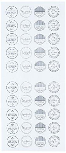 Multicraft Import MultiCraft Sentiment Foil Seal Stickers-Persoonlijke Touch, Overige, Multi kleuren, 0.25x13.97x35.56 cm