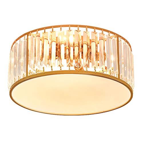 Moderno Redondo Cristal Lámpara De Techo,Dorado E14 Cerca Del Techo Iluminación Para...