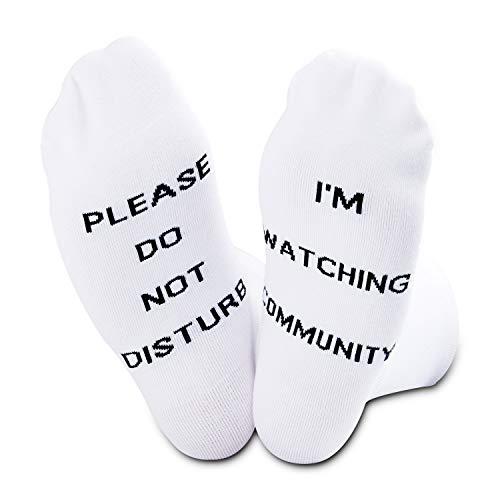 Calcetines de regalo para la comunidad para los fans de la serie de televisión comunitaria Pleas Do Not Disturb I'm Watching Community
