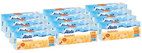 Alete Kinderkeks, Kinder-Snack für zuhause & unterwegs, zum selber essen, ohne Palmöl, ab dem 8. Monat, 12er Pack (12 x 180 g)