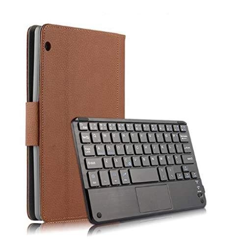 Teclado Bluetooth para Tableta Tablet Bluetooth Teclado Cubierta para HW MediaPAD T5 8.0 JDN2 AL00 / W09HN Honor Pad 5 8.0 Caso de Stand Case Idioma Multilingüe Tablet con Funda (Color : Brown)