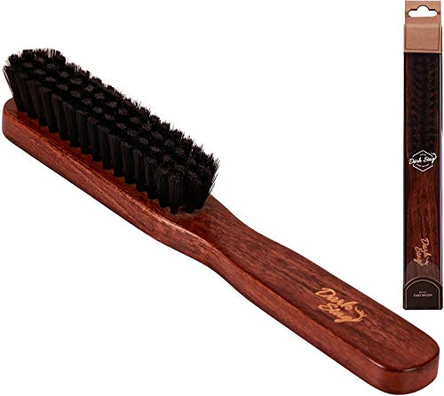 TRYSHA Dunkler Stag Holz Barber Fade Brush - Ideal for das Entfernen Cut Haars