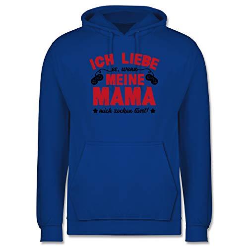 Shirtracer Nerds & Geeks - Ich Liebe Meine Mama - schwarz/rot - S - Royalblau - Statement - JH001 - Herren Hoodie und Kapuzenpullover für Männer