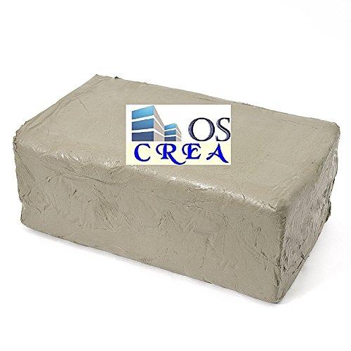 OSCrea Soft-Ton Weiss 5000gramm lufthärtend / brennbar 1000°C-1300°C, be Creative by