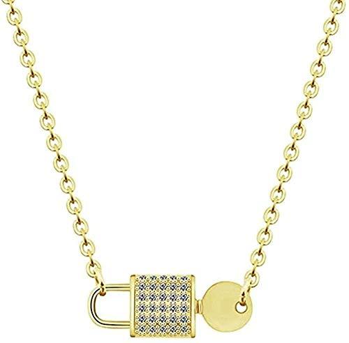 MGBDXG Co.,Ltd Necklace Necklaces Pendants Lock Key Collar Statement Necklaces Women Choker Choker Necklace Necklace
