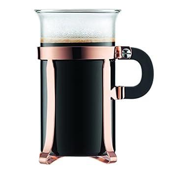 Bodum 4912-18 Chambord Classic 2 Piece Coffee Glass 10 oz Copper