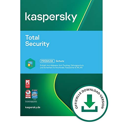 Kaspersky Total Security 2021 | 3 Geräte | Jährliches Abo | Windows/Mac/Android | Aktivierungscode per Email