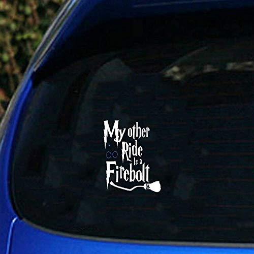 Harry Potter Wandtattoo Harry Potter Besen Silhouette Meine andere Fahrt ist ein Feuerblitz Aufkleber Aufkleber