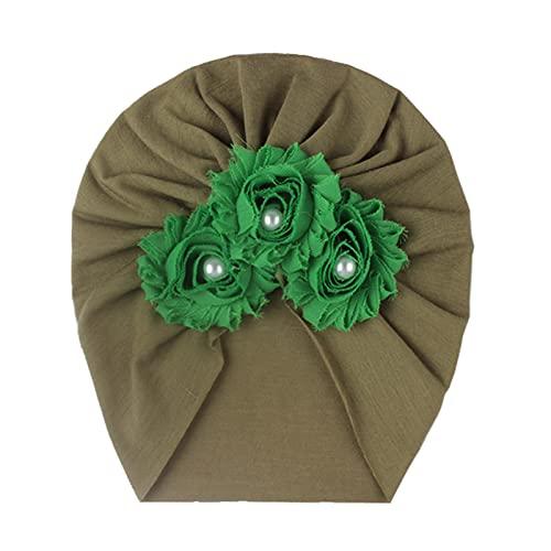 Diadema con flores y perlas para bebé, cinta para el pelo con arcos grandes, para niñas y bebés, para el pelo Nº 06 Talla única