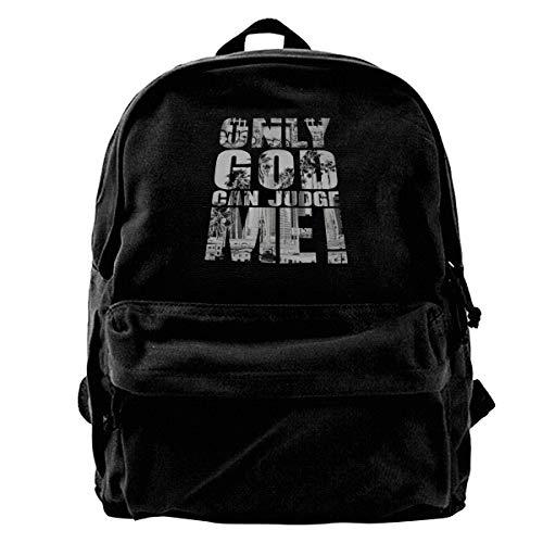 Only God Can Judge Me Fashion Resistant Backpack For Men Women College Schoolbag Travel Bookbag Backpack Black