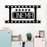 YuanMinglu Wandtattoo Kinderzimmer Wohnzimmer Heimkino Kino Film Film Vorfunktionsbereich Wandaufkleber Vinyl Kunst Zimmer 56x27 cm