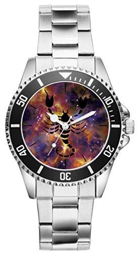 Sternzeichen Skorpion Geschenk Artikel Idee Fan Uhr 6176
