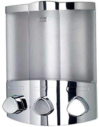 AGQG Zeep Dispenser Muur Mount Enkele Hoofd Handmatige Zeep Dispenser Bad Douchegel Vloeibare Shampoo Desinfecterende Dispenser Houder Ontworpen met Heldere Ramen