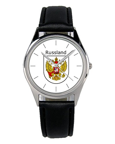 Russland Geschenk Artikel Idee Fan Wappen Uhr 20108-B