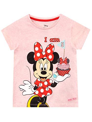 Disney Camiseta para Niñas Minnie Mouse Rosa 4-5 años