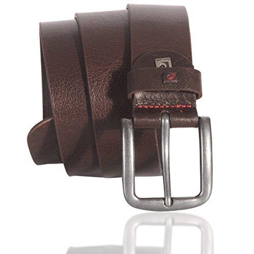 Pierre Cardin Mens leather belt/Mens belt, brown, Größe/Size:85;Farbe/Color:brown