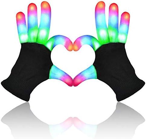 Light Up Gloves LED Light Gloves for Kids Teenager Adult Light Up Gloves for Party Flashing product image