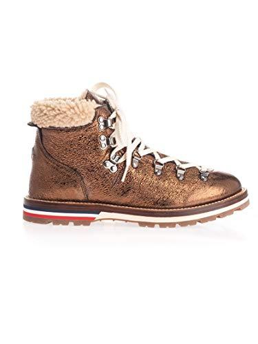 Luxury Fashion | Moncler Dames 200760001AMB998 Brons Leer Enkellaarzen | Herfst-winter 19